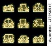 Brougham Icons Set. Outline Set ...