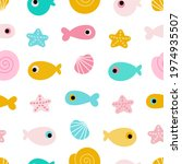 seamless pattern with colored... | Shutterstock .eps vector #1974935507