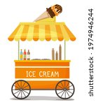 colorful vector ice cream cart... | Shutterstock .eps vector #1974946244