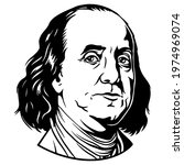 benjamin franklin portrait....   Shutterstock .eps vector #1974969074