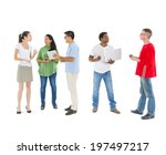 mullti ethnic group of people... | Shutterstock . vector #197497217