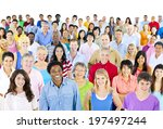 large group of ethnicity  | Shutterstock . vector #197497244
