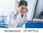 tired office worker with... | Shutterstock . vector #197497511