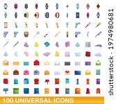 100 universal icons set.... | Shutterstock .eps vector #1974980681