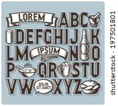 set of vintage font and design... | Shutterstock .eps vector #197501801