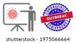 dotted halftone coronavirus... | Shutterstock .eps vector #1975066664