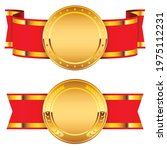 gold medal icon badge. symbol... | Shutterstock .eps vector #1975112231