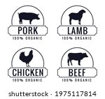 collection of organic farm meat ... | Shutterstock .eps vector #1975117814