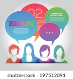 brainstorming with group of... | Shutterstock .eps vector #197512091