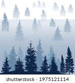 illustration with blue fir... | Shutterstock .eps vector #1975121114