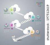 abstract 3d digital... | Shutterstock .eps vector #197512619