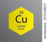 cu copper transition metal... | Shutterstock .eps vector #1975128017