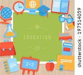 vector education greeting card  ... | Shutterstock .eps vector #197514059