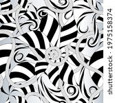 black and white floral abstract ...   Shutterstock .eps vector #1975158374