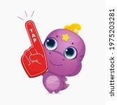 cartoon cute dinosaur with... | Shutterstock .eps vector #1975203281