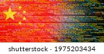 creative  china  flag banner of ... | Shutterstock . vector #1975203434