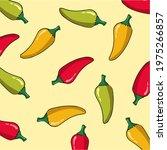 green chili  yellow chili  and...   Shutterstock .eps vector #1975266857