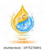 drop blue vitamin e solution... | Shutterstock .eps vector #1975276841