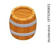 wooden barrel detailed ...