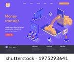 money transfer isometric...   Shutterstock .eps vector #1975293641
