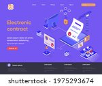 electronic contract isometric... | Shutterstock .eps vector #1975293674