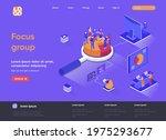 focus group isometric landing...   Shutterstock .eps vector #1975293677