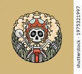 Hand Drawing Illustration Skull ...