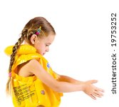 young girl with yellow... | Shutterstock . vector #19753252