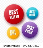 colorful badges and stickers....   Shutterstock .eps vector #1975370567