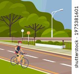 Cyclist On Bike Rides On...