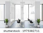 White Open Workspace Interior...