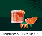 negroni cocktail in old... | Shutterstock .eps vector #1975385711