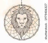 Ornate Lion Head Over Dream...