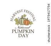 emblem of vegetable pumpkins...   Shutterstock .eps vector #1975417754