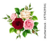 vector bouquet of burgundy ...   Shutterstock .eps vector #1975429541