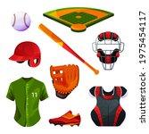 baseball equipment and uniform... | Shutterstock .eps vector #1975454117