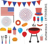 4th of july bbq clipart | Shutterstock .eps vector #1975458341