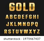 gold metallic alphabet letters... | Shutterstock .eps vector #1975467437