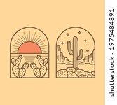 cactus desert scene  good for...   Shutterstock .eps vector #1975484891