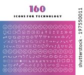 thin line arrow icons set  | Shutterstock .eps vector #197550011