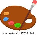 simple hand drawn paint palette ...   Shutterstock .eps vector #1975521161