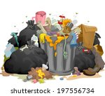 illustration of a pile of... | Shutterstock .eps vector #197556734