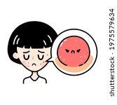 cute sad teenage girl with... | Shutterstock .eps vector #1975579634