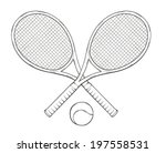 vector  two tenis rackets and... | Shutterstock .eps vector #197558531