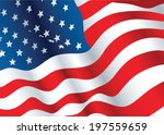 illustration of a waving flag... | Shutterstock .eps vector #197559659