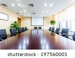 business meeting room in office | Shutterstock . vector #197560001