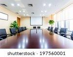business meeting room in office | Shutterstock . vector #197560001