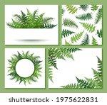 fern frond frames and pattern...   Shutterstock .eps vector #1975622831