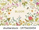 greeting card. bloom. blooming... | Shutterstock .eps vector #1975633454