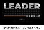 leader the new generation ...   Shutterstock .eps vector #1975657757